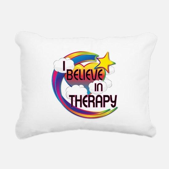 I Believe In Therapy Cute Believer Design Rectangu
