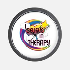 I Believe In Therapy Cute Believer Design Wall Clo
