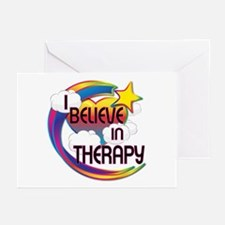 I Believe In Therapy Cute Believer Design Greeting