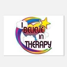 I Believe In Therapy Cute Believer Design Postcard