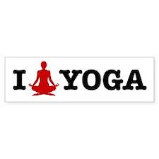 Yoga Bumper Car Sticker
