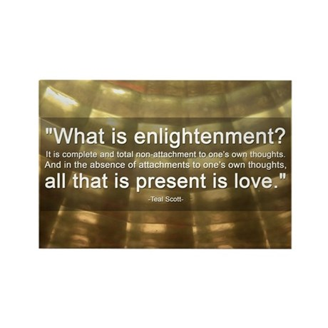 What is Enlightenment   Rectangle Magnet