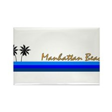 Funny Manhattan beach Rectangle Magnet