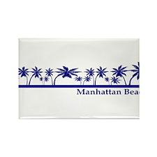 Cool Manhattan beach Rectangle Magnet