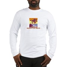 Funny Manhattan beach Long Sleeve T-Shirt