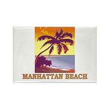 Unique Manhattan beach Rectangle Magnet