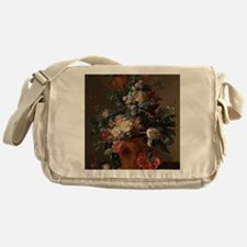 Vase of Flowers by Jan van Huysum 17 Messenger Bag