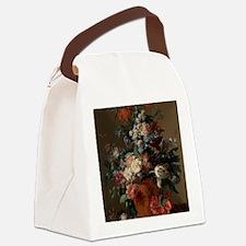 Vase of Flowers by Jan van Huysum Canvas Lunch Bag