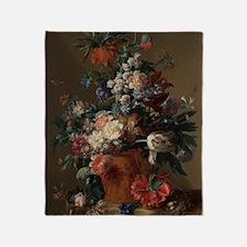 Vase of Flowers by Jan van Huysum 17 Throw Blanket