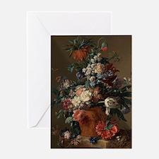 Vase of Flowers by Jan van Huysum 17 Greeting Card