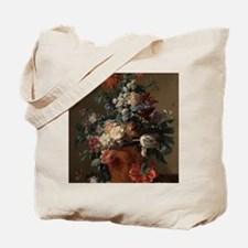Vase of Flowers by Jan van Huysum 1722 Tote Bag