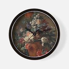 Vase of Flowers by Jan van Huysum 1722 Wall Clock