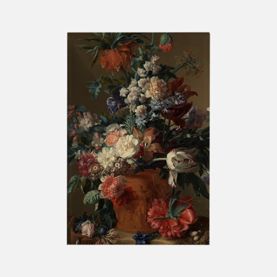 Vase of Flowers by Jan van Huysum Rectangle Magnet
