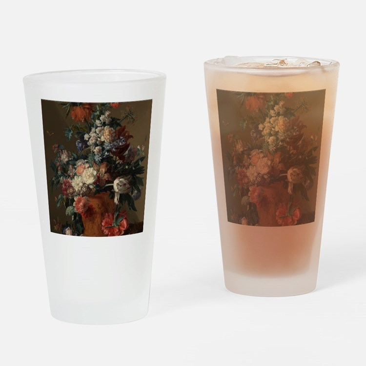 Vase of Flowers by Jan van Huysum 1 Drinking Glass