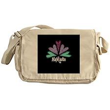 Namaste Black Messenger Bag