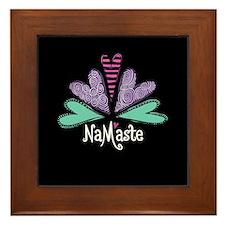 Namaste Black Framed Tile