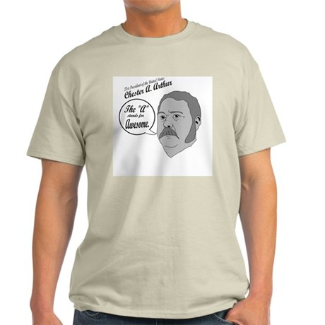 Chester Awesome Arthur ash grey t-shirt