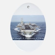 USS Dwight D. Eisenhower (CVN69) Oval Ornament