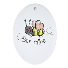 Bee Mine Oval Ornament