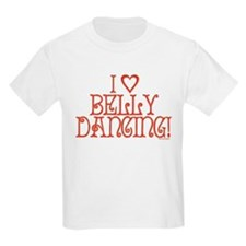 I Love Belly Dancing Kids T-Shirt