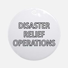 Disaster Relief Operations - White Ornament (Round