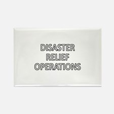 Disaster Relief Operations - White Rectangle Magne