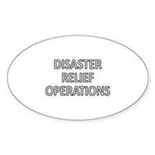 Disaster Relief Operations - White Decal