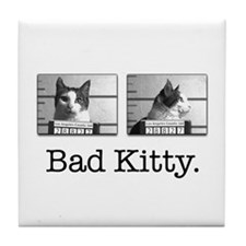 "Bad Kitty ""Mug Shot"" Tile Coaster"