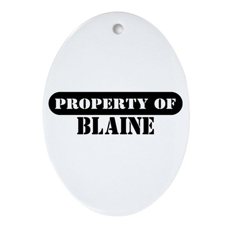 Property of Blaine Oval Ornament