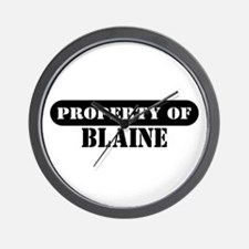 Property of Blaine Wall Clock