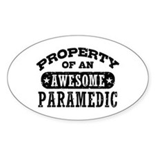 Property of an Awesome Paramedic Decal