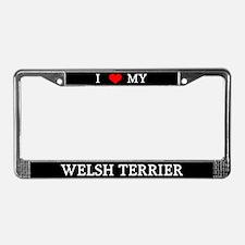 Love Welsh Terrier License Plate Frame