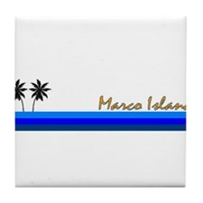 Cute Sanibel island Tile Coaster