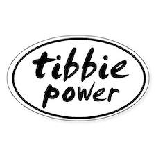Tibbie POWER Oval Bumper Stickers