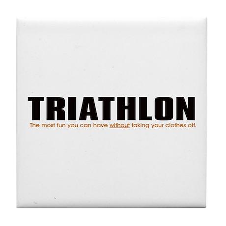 """Triathlon Fun"" Tile Coaster"
