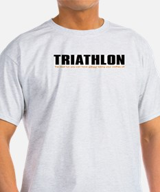 """Triathlon Fun"" Ash Grey T-Shirt"