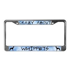 Crazy About Whippets License Plate Frame