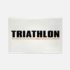 """Triathlon Fun"" Rectangle Magnet"