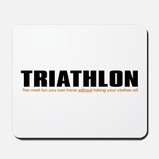 """Triathlon Fun"" Mousepad"