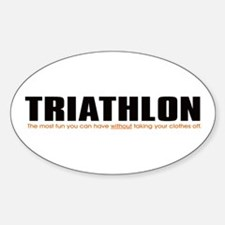 """Triathlon Fun"" Oval Decal"