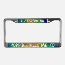 Do what Yorkie License Plate Frame