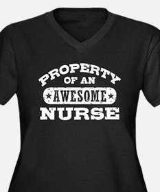 Property of an Awesome Nurse Women's Plus Size V-N