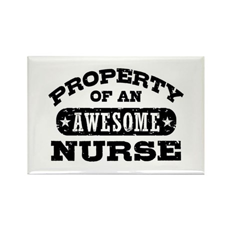 Property of an Awesome Nurse Rectangle Magnet