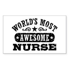 World's Most Awesome Nurse Decal