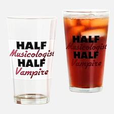 Half Musicologist Half Vampire Drinking Glass