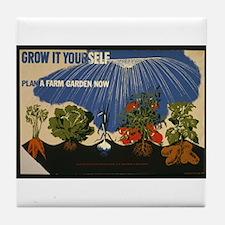 Victory Garden Vegetable Tile Coaster