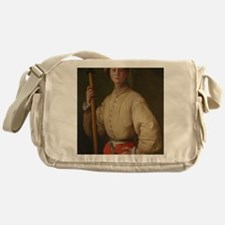 Portrait of a Halberdier by Pontormo Messenger Bag