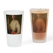 Portrait of a Halberdier by Pontorm Drinking Glass