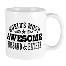 Awesome Husband And Father Small Mug
