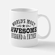 Awesome Husband And Father Small Small Mug